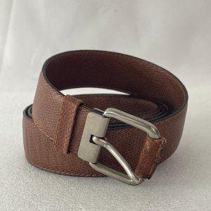 Authentic FENDI Vintage Men's Brown Leather Belt